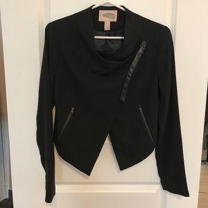 Asymmetric front blazer